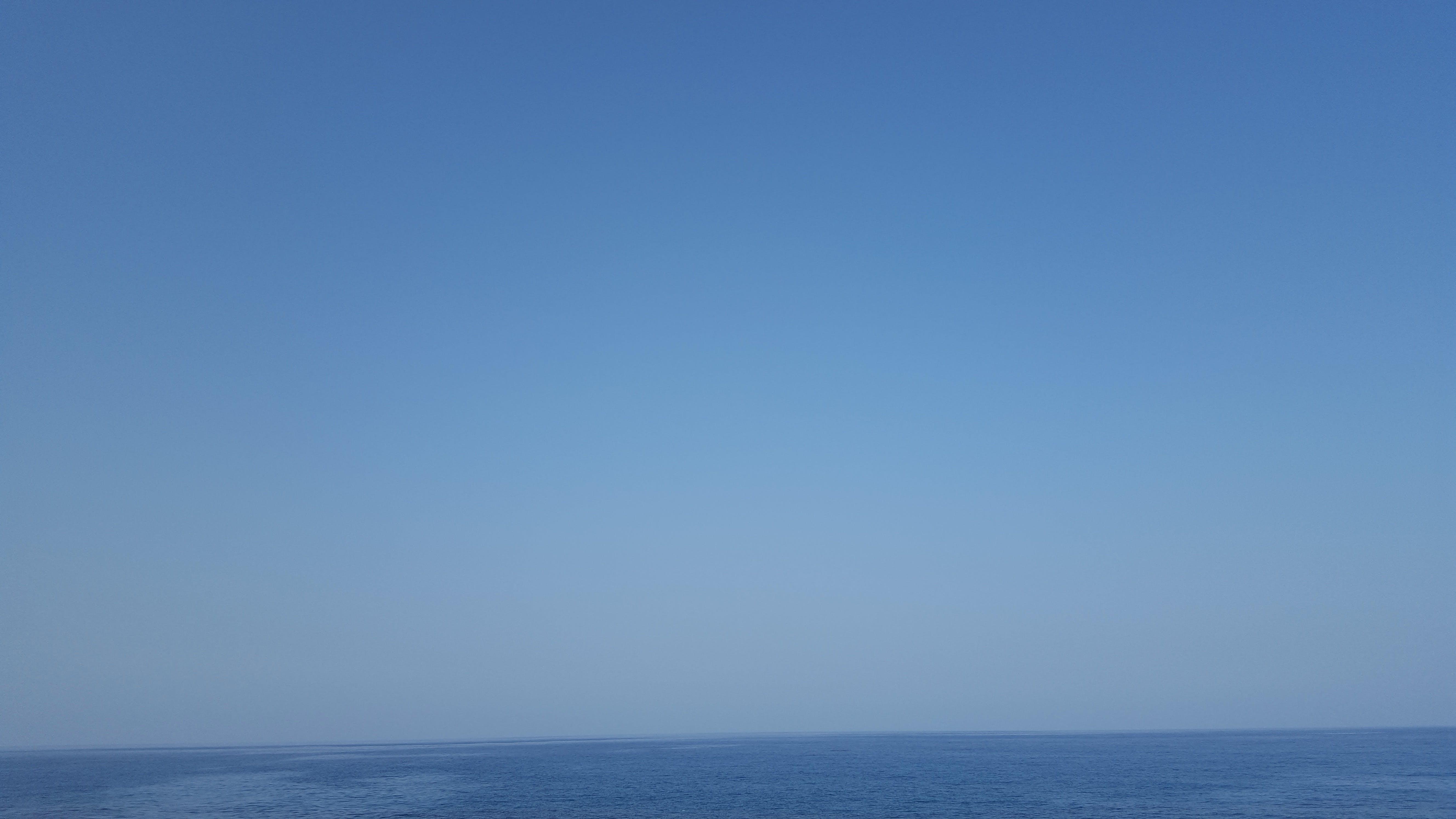 Free stock photo of blue sea, clear sky, sea, sky