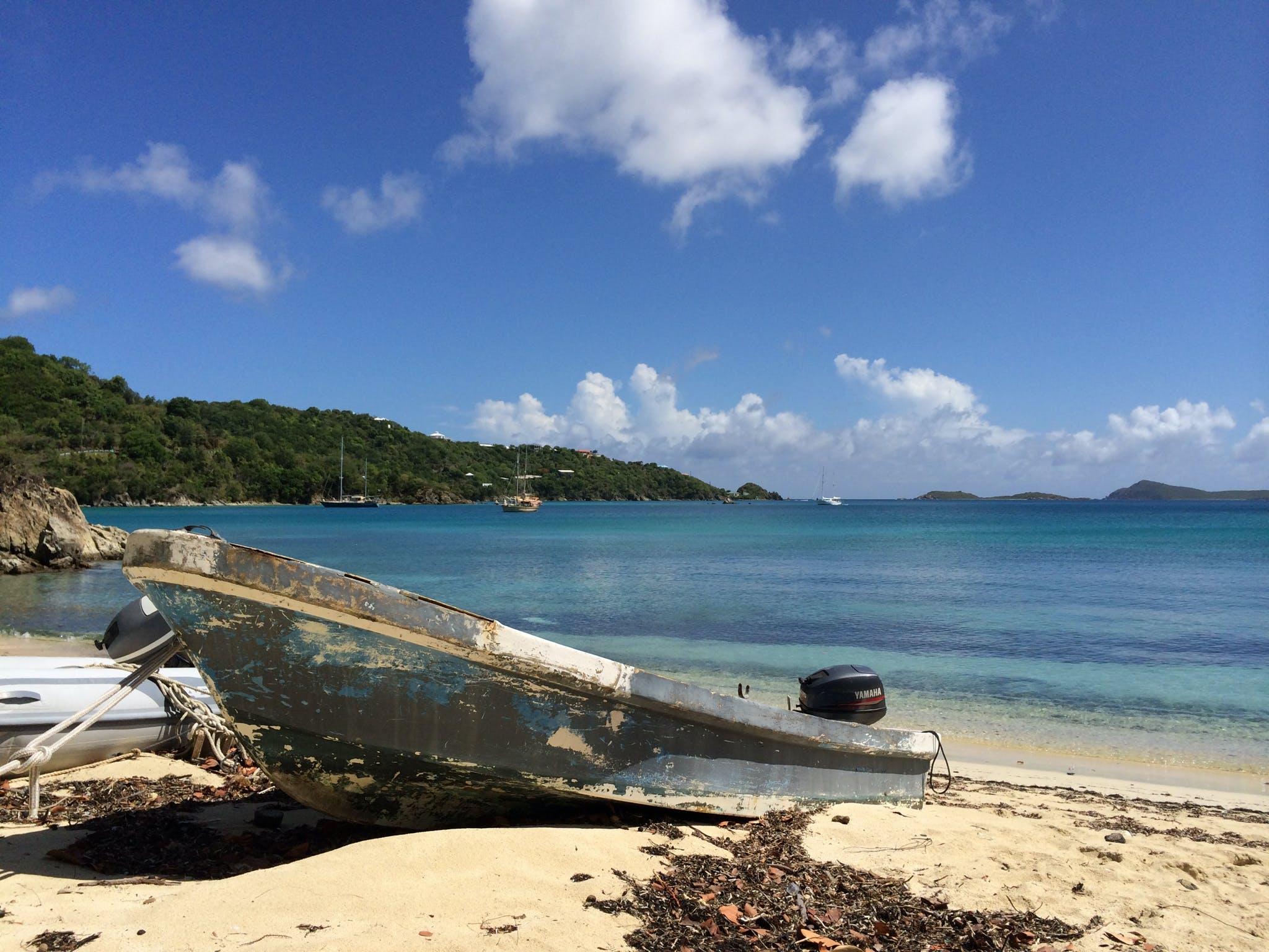 Free stock photo of caribbean, old boat, St. John, Vie's Beach