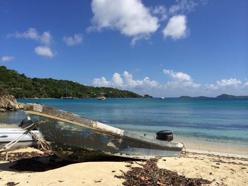 Free stock photo of caribbean, old boat, St. John, Vie's Beach