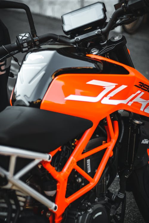 Orange and Black Sports Bike