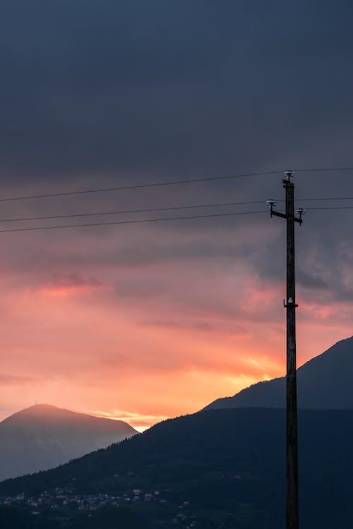 คลังภาพถ่ายฟรี ของ กลางแจ้ง, จังหวัด, ช่วงแสงสีทอง, ซิลูเอตต์