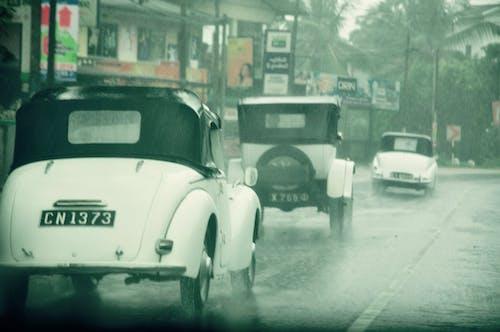 多雨的街道, 汽車, 科伦坡, 老爺車 的 免费素材图片
