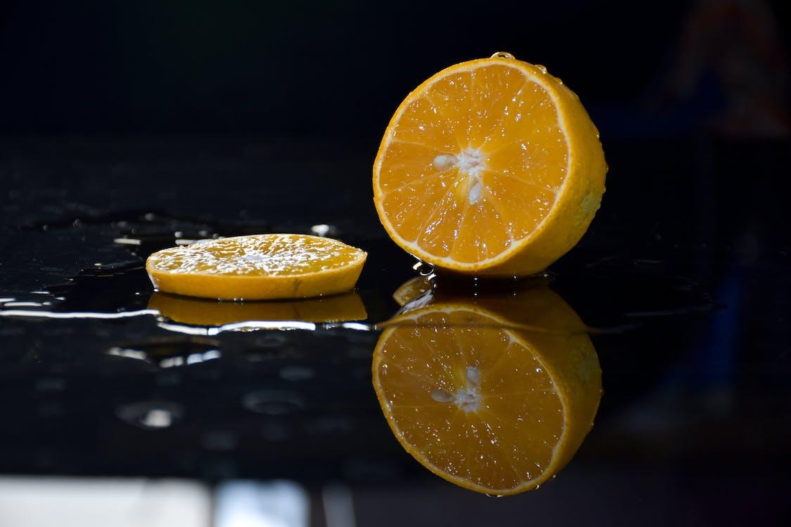Sliced Yellow Lemon Fruit