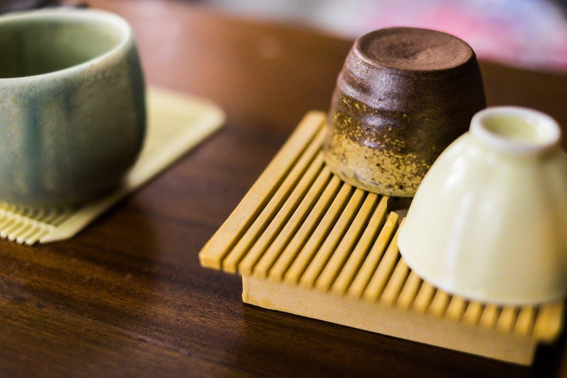 bambus, bestikk, bord