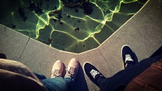 feet, water, shoes