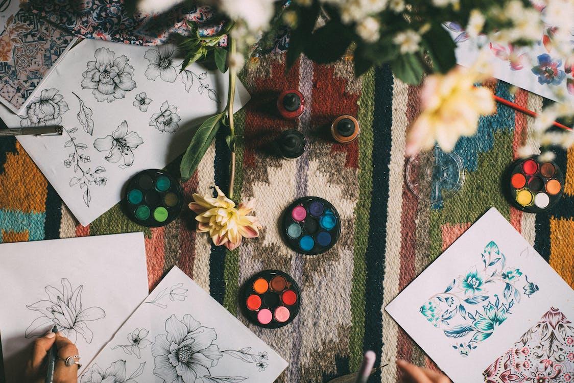 Assorted Petaled Flower Sketches
