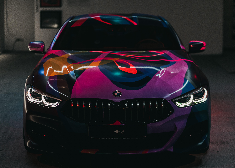 Purple and Black Bmw Vehicle