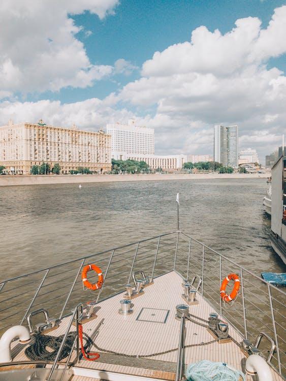 agua, arquitectura, barca