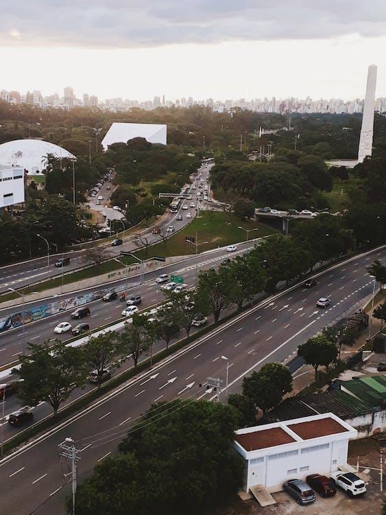 architektur, autobahn, autos