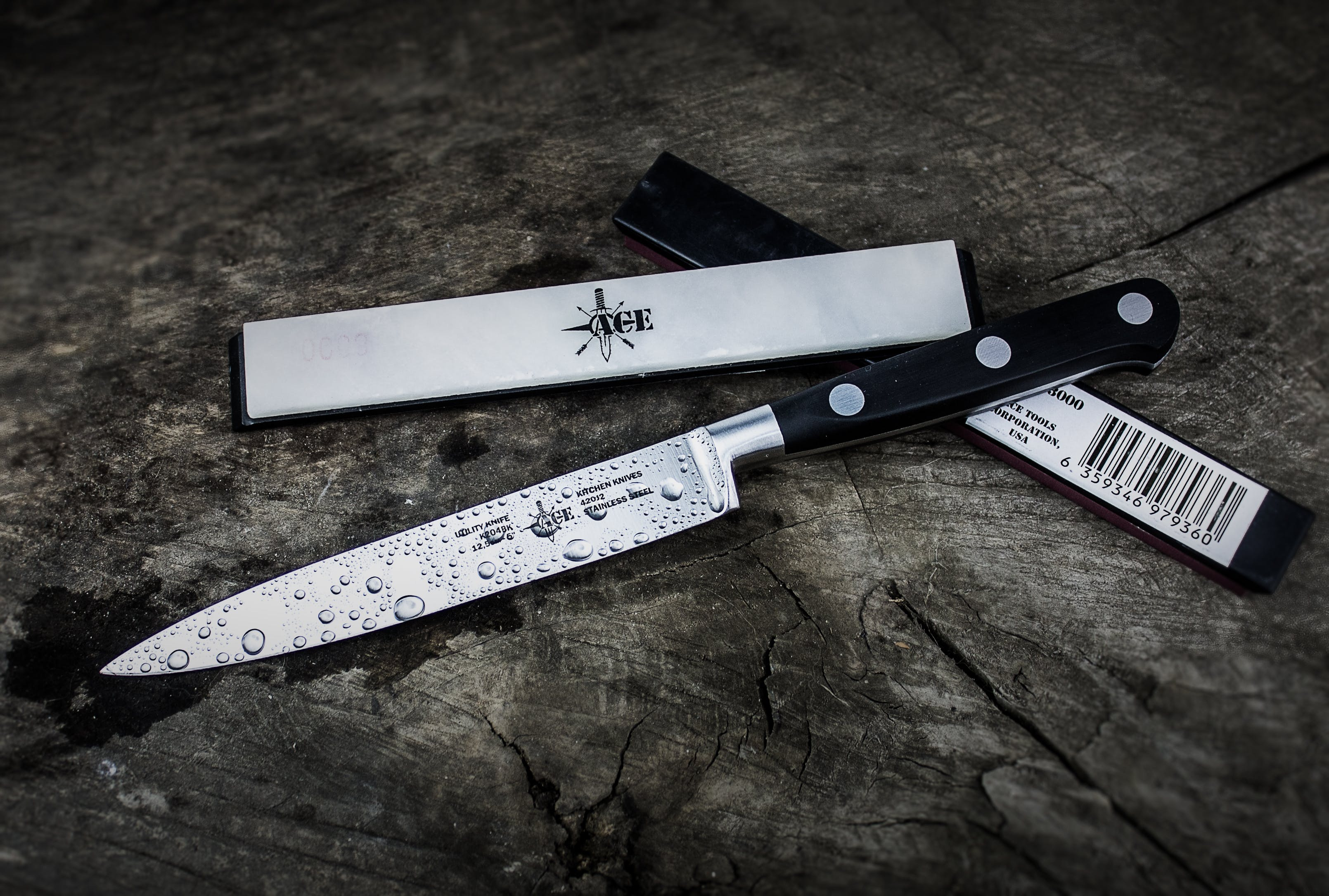 Black and Gray Knife With Box