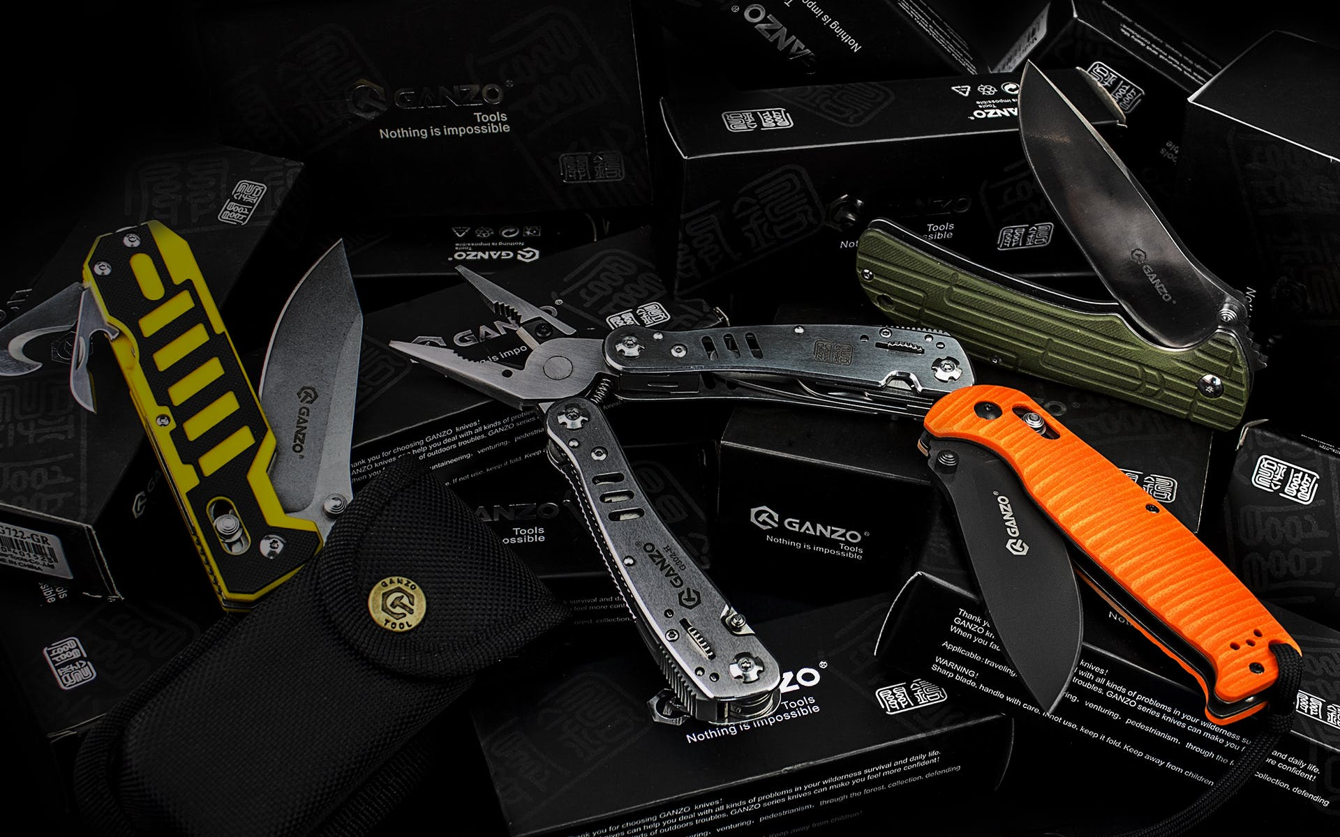 Orange and Black Pocketknife