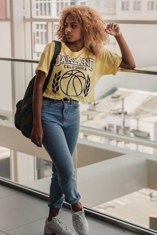 Immagine gratuita di afro, bellissimo, bicchiere, capelli