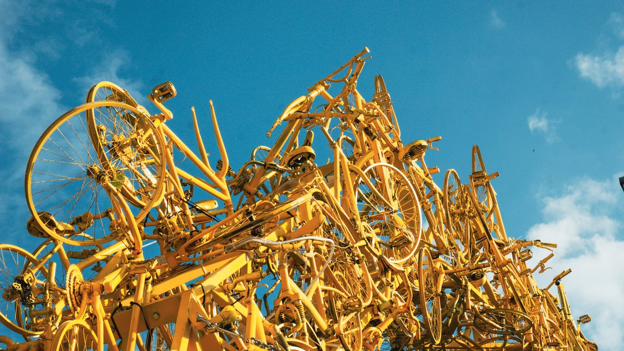 art, bicyclettes, brillant