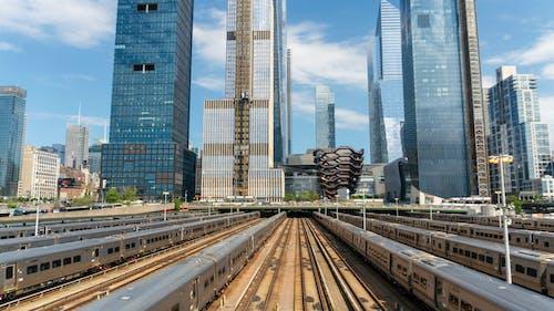 Photos gratuites de architecture, cour de train, entraîner, paysage