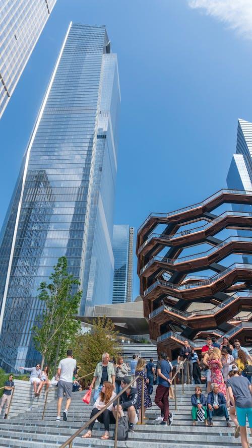 Photos gratuites de architecture, gens, gratte-ciel, ville