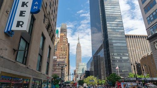 Photos gratuites de citadin, empire state building, new york, rue