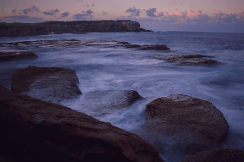 Foto stok gratis alam, batu, Fajar, laut