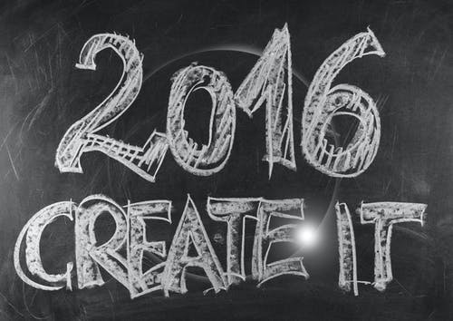 Free stock photo of 2016, blackboard, creative, new year