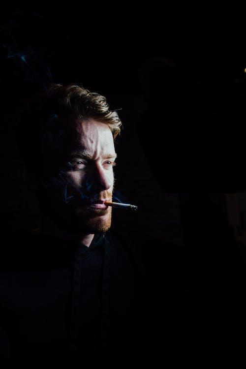 Portrait of Man Smoking