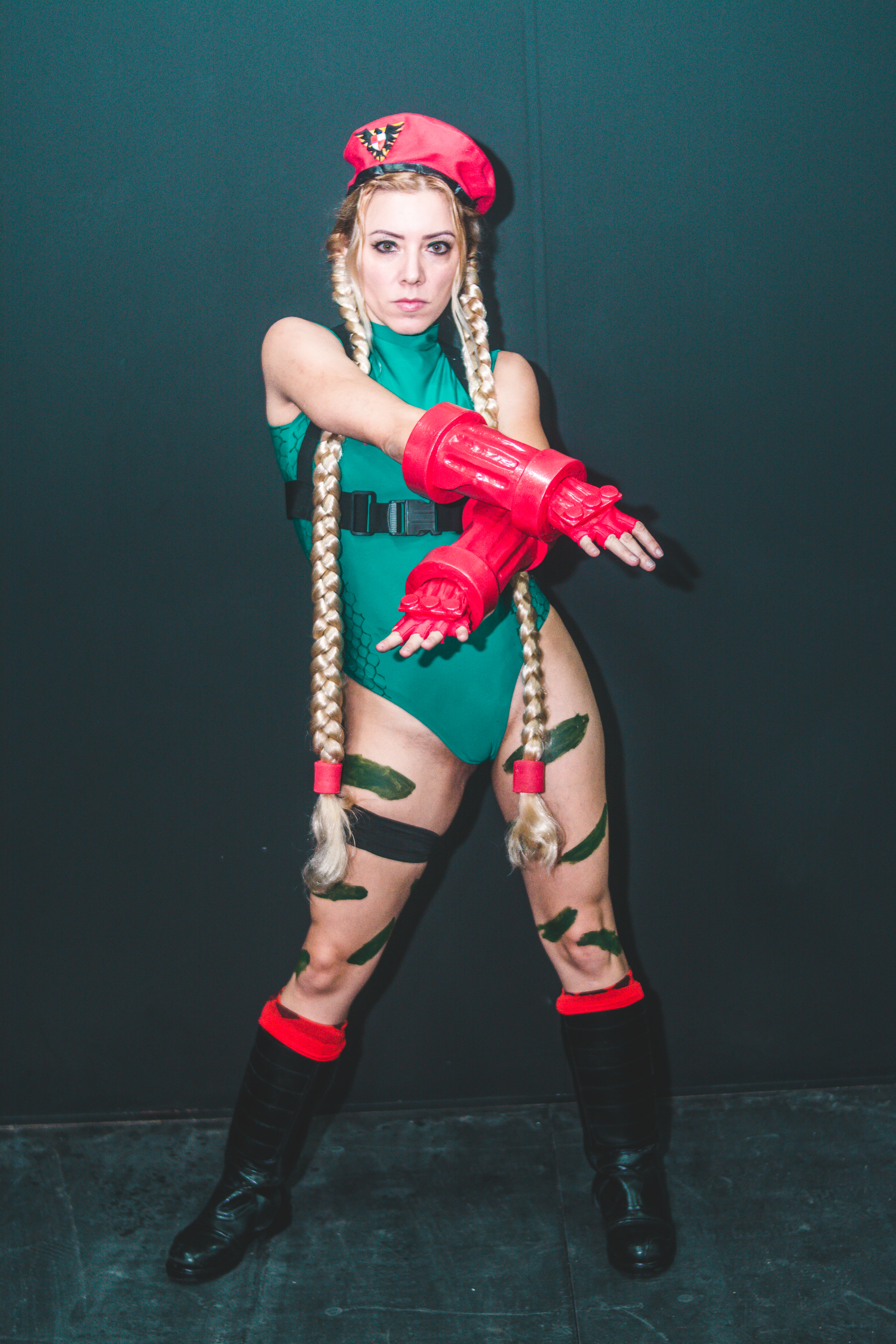 Woman Wearing Street Fighter Character Cosplay Outfit