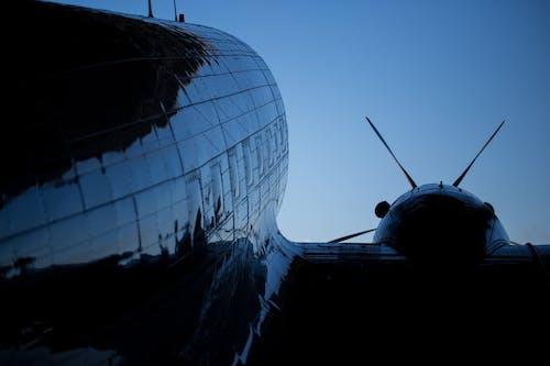 交通系統, 剪影, 旋轉葉片, 航空 的 免費圖庫相片