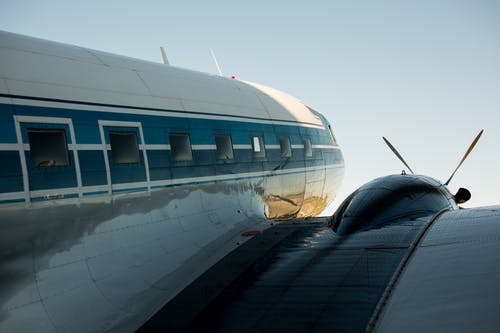 Close-Up Photo of Airplane Wing