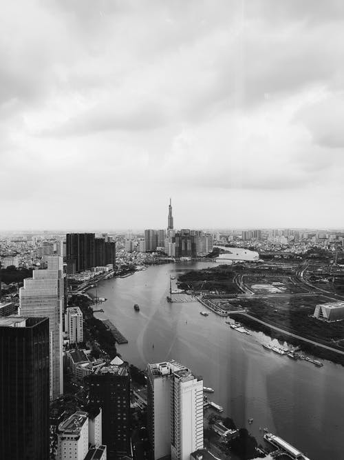 Δωρεάν στοκ φωτογραφιών με αεροφωτογράφιση, αρχιτεκτονική, ασπρόμαυρο, αστική περιοχή
