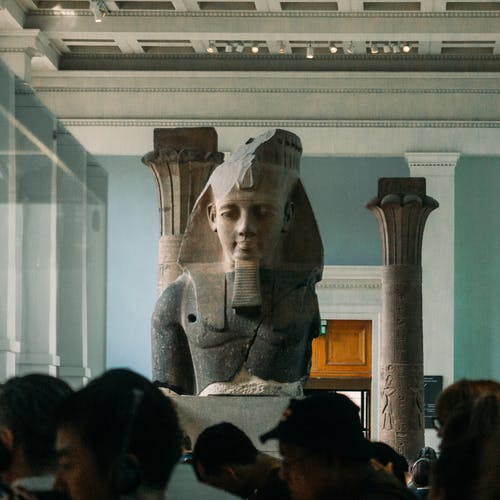 King Tut Head Bust in Museum