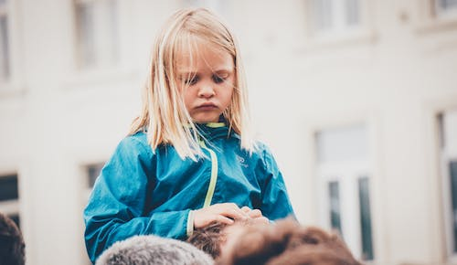 Photo of Girl Wearing Blue Jacket