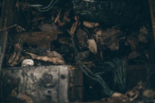 Free stock photo of dark, metal, broken, blur