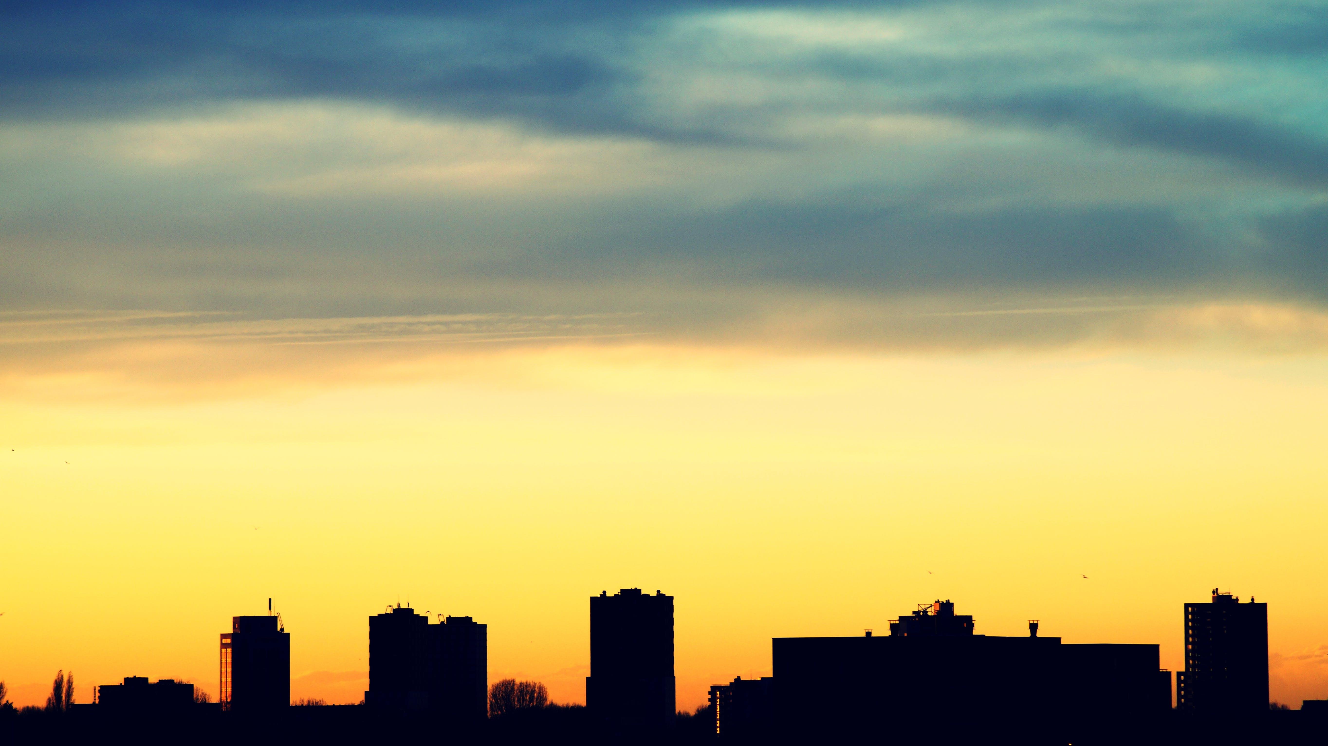 architecture, backlit, buildings