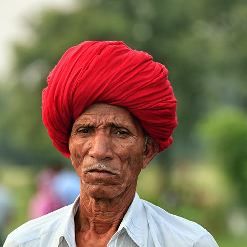 Man Wearing Red Turban