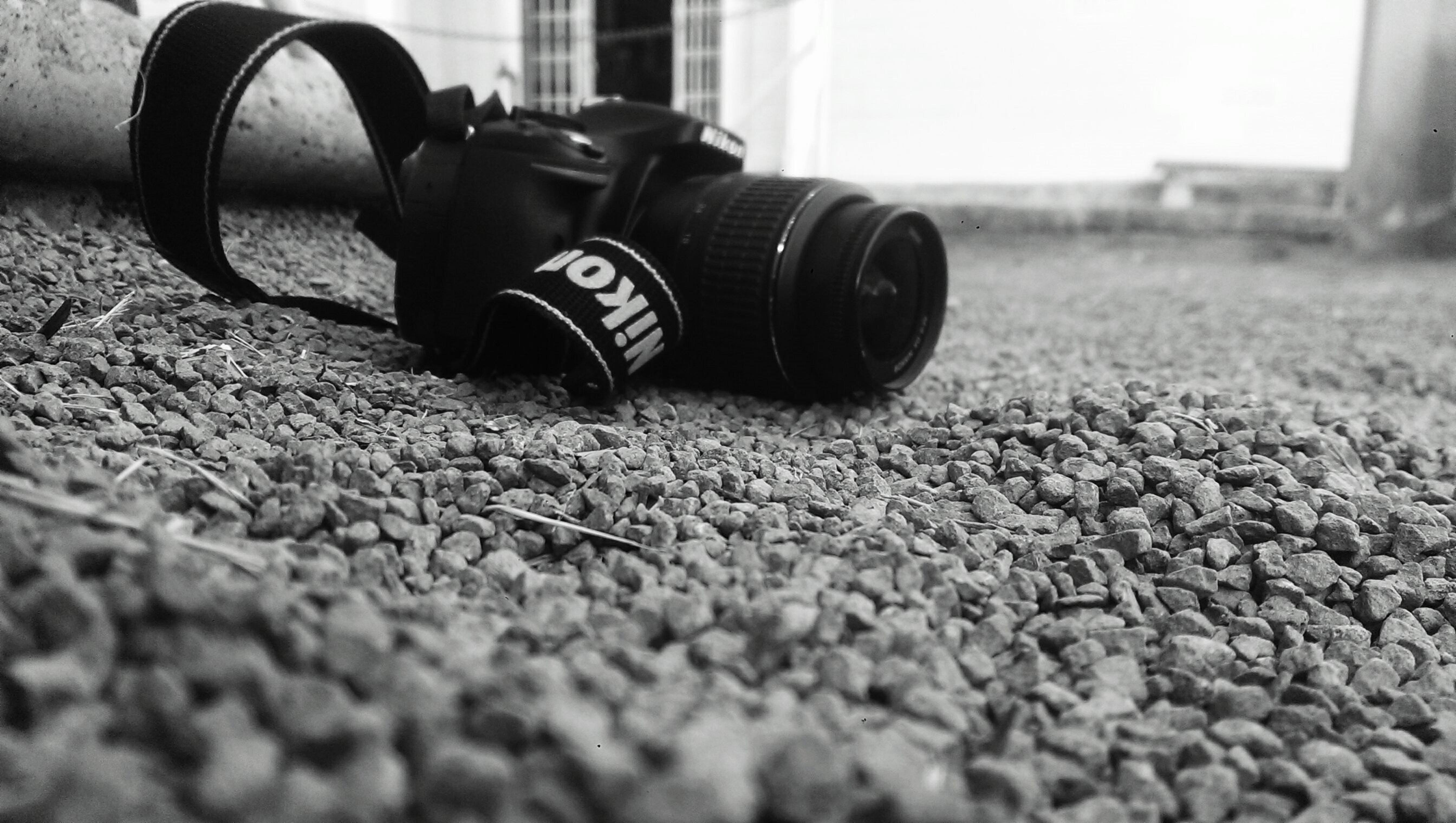black-and-white, blur, camera
