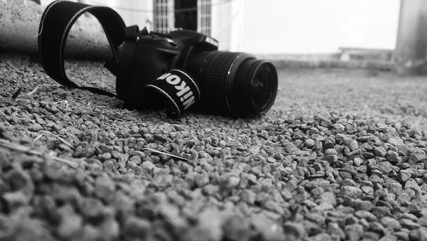 Free stock photo of black-and-white, camera, rocks, photography