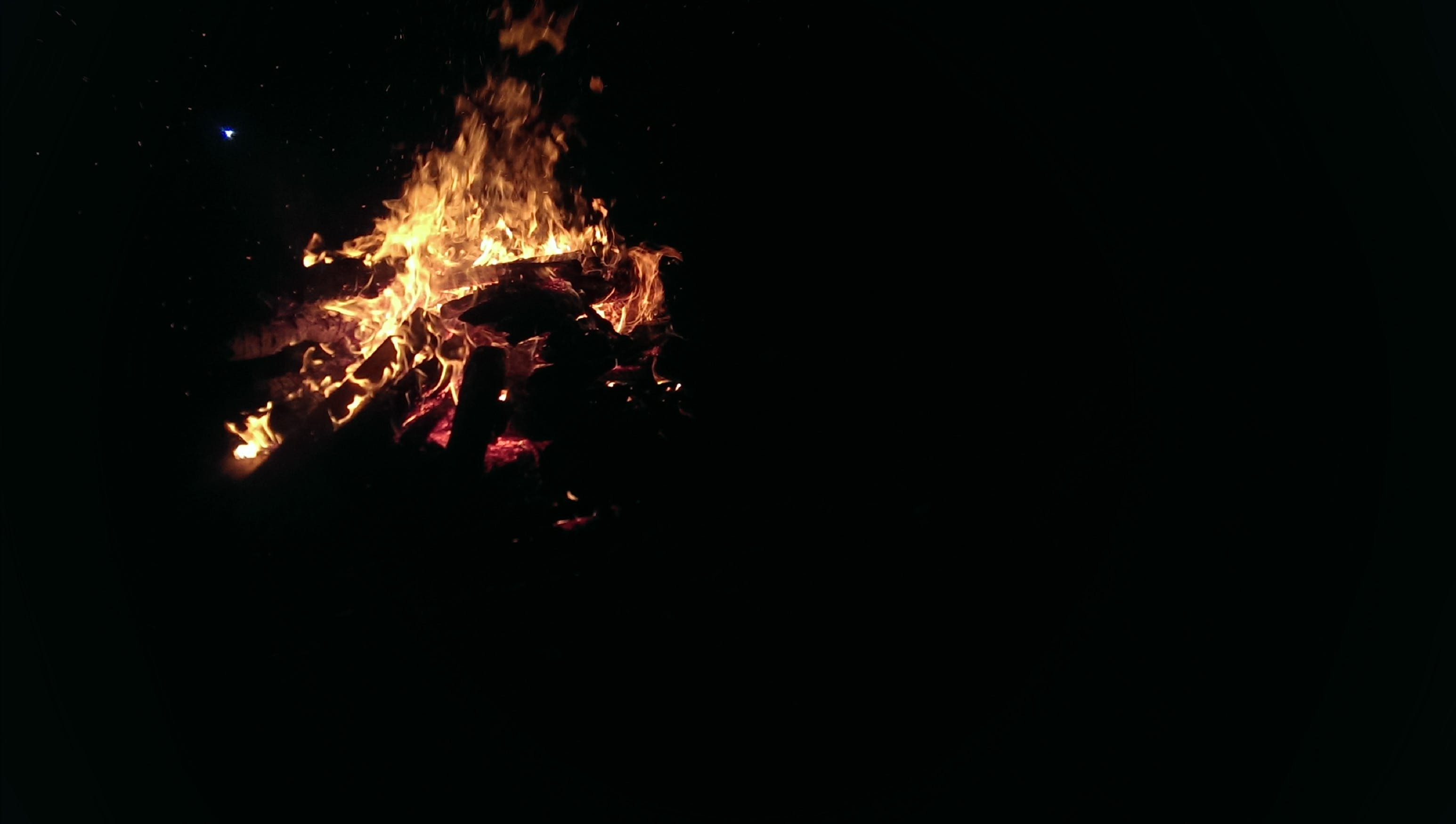 fire, nature, night