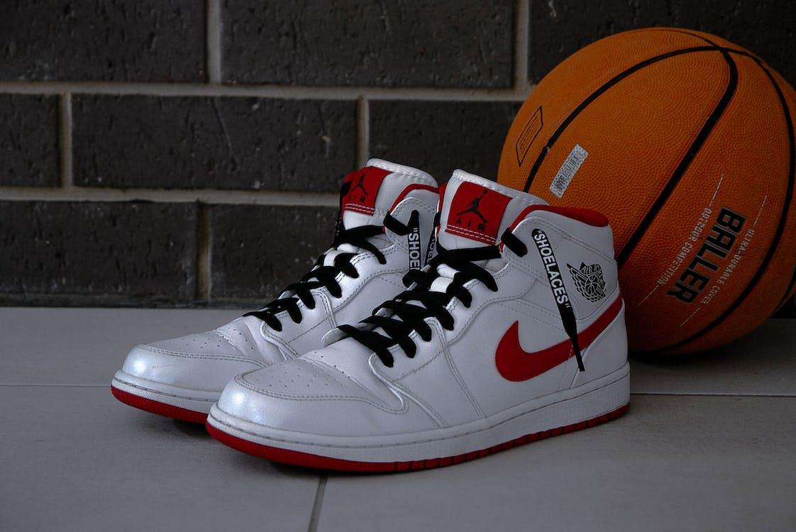 Pair of White Air Jordan 1's