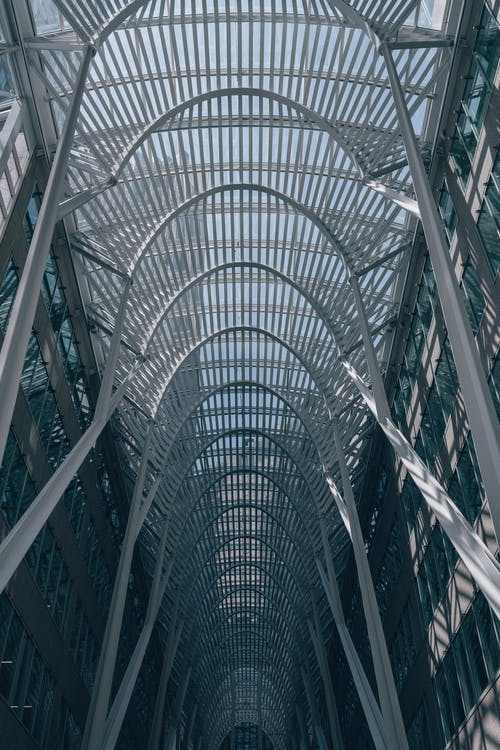 Low Angle Photography of Steel Structure