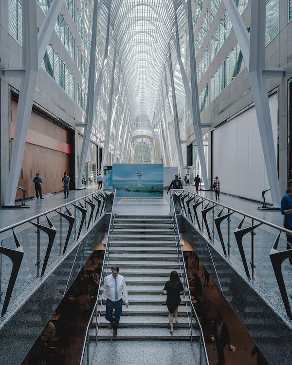 à l'intérieur, architecture, architecture moderne