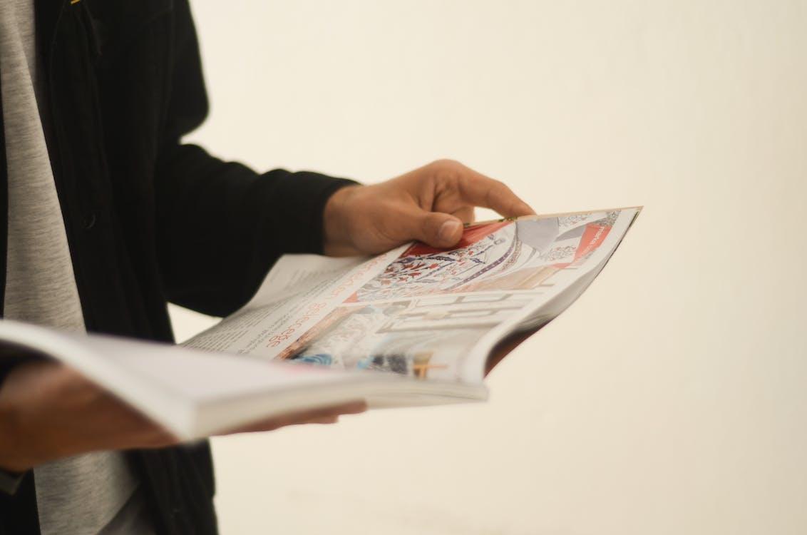 bild, händer, läsa