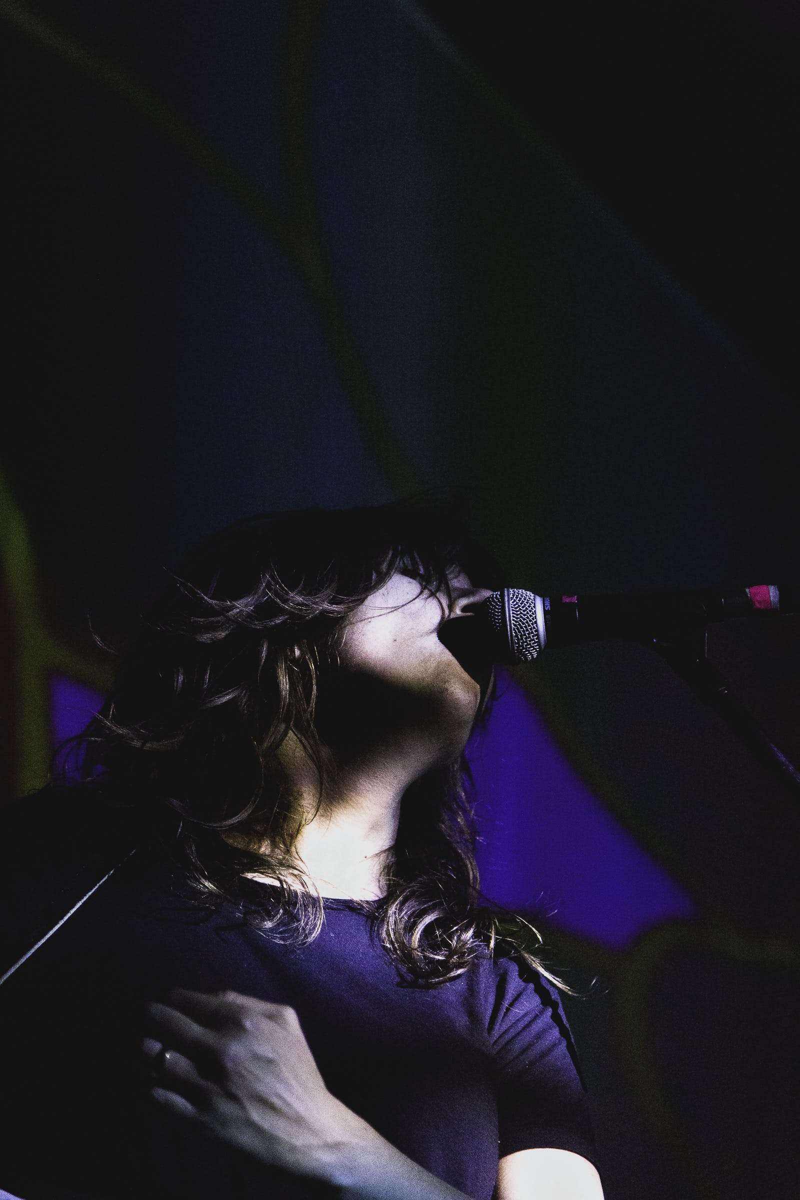 Woman Using Microphone
