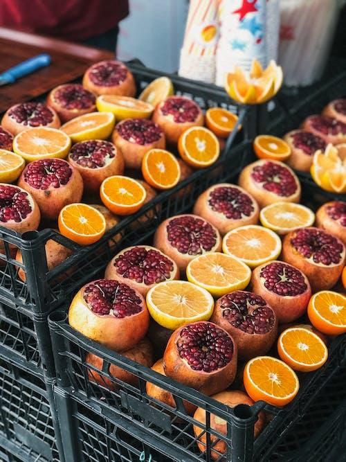 Ilmainen kuvapankkikuva tunnisteilla appelsiinit, granatomenat, hedelmät, herkullista
