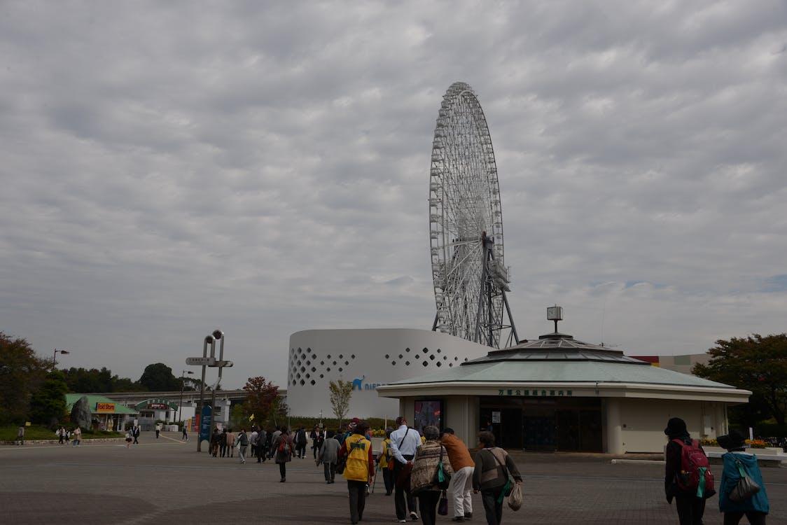 Foto stok gratis kota expo, roda besar