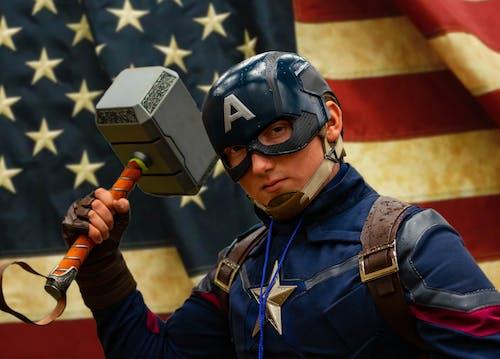 Fotobanka sbezplatnými fotkami na tému avengers, cosplay, kapitán amerika, kladivo