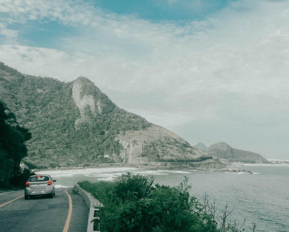 asfalt, auto, automobiel