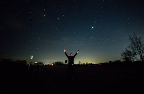 Kostenloses Stock Foto zu astrofotografie, langzeitbelichtung, mann, nacht