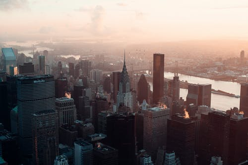 Foto profissional grátis de alvorecer, amanhecer, arquitetura, arranha-céus