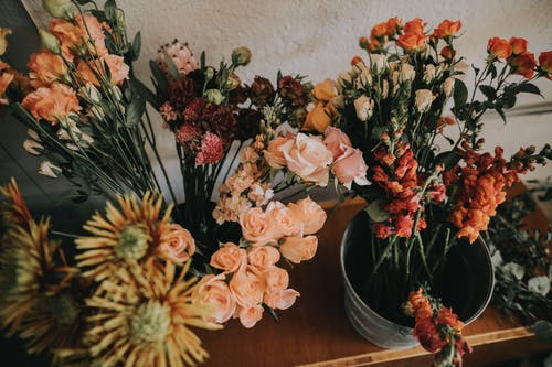 Pink, Yellow, Red, and Orange Flowers