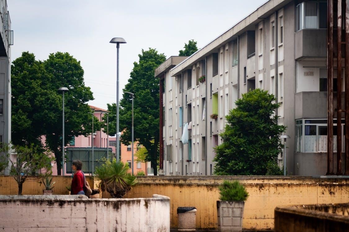 abandonat, arquitectura, dona