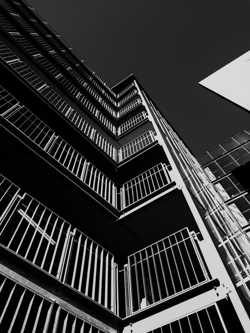 Architectural Photography of White and Black Building