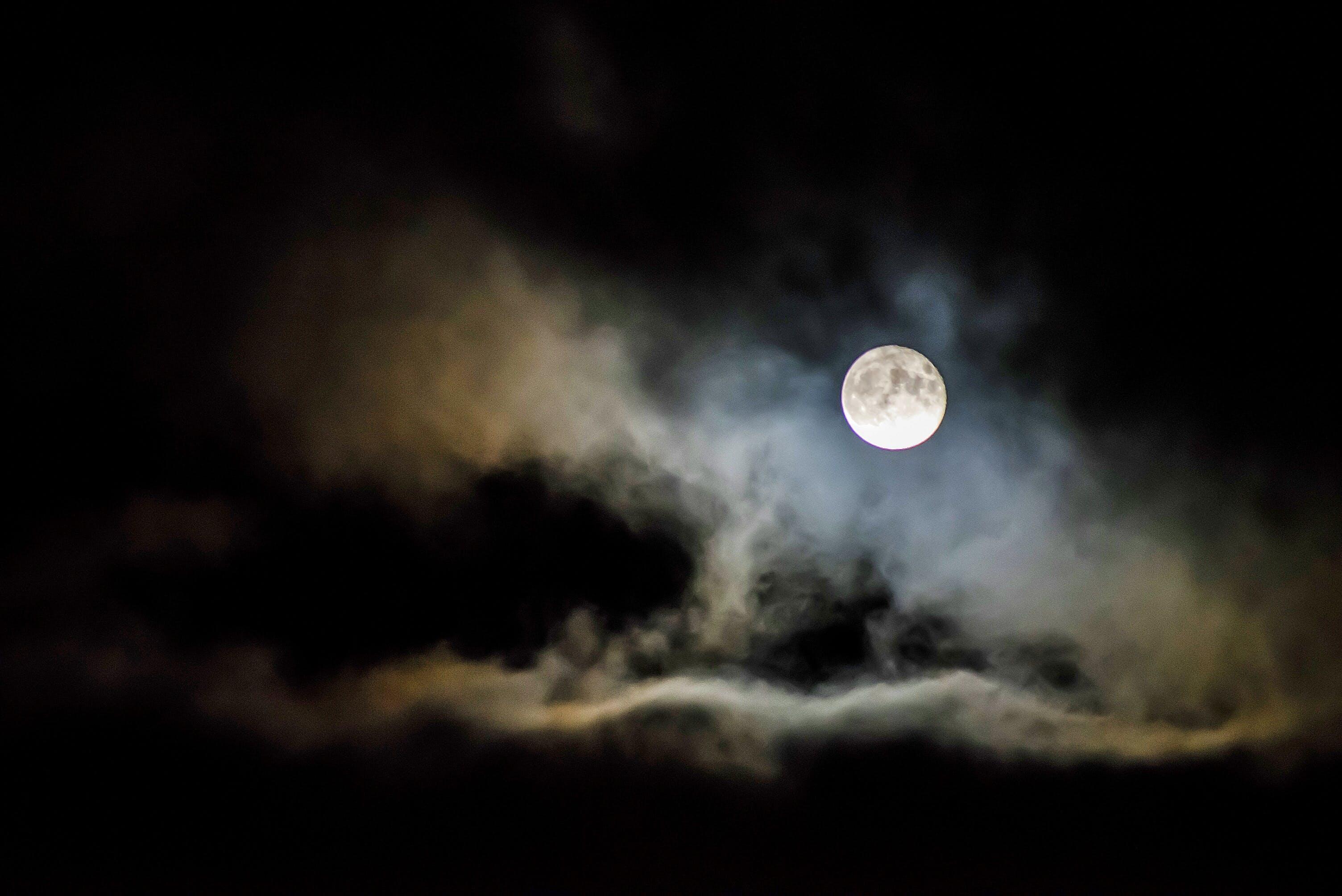 zu abend, astronomie, dunkel, himmel